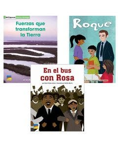 Gr. K-5 Spanish Authentic Voices BookRoom with Prompting Card 1-Year Package Print and Digital