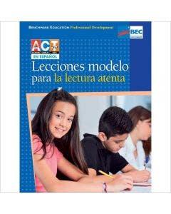 Lecciones ejemplares para la lectura atenta Professional Development Book